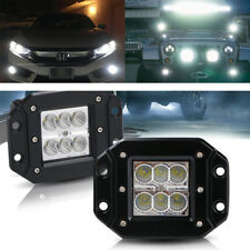 2x 18W Cree Led Work Lights Pods Flood Offroad Lamp For ATV JEEP UTE 4'' Cube