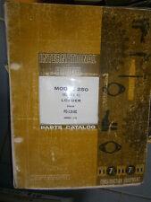 IH International Hough 250 Série C chargeur : parts catalog 1970