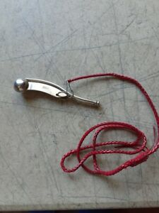 Maritime Boatswain Bosun Ship Whistle Made in England Silver Tone Metal