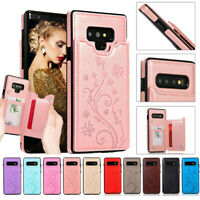 For Samsung Galaxy S10e S9 S8 S7 Magnetic Leather Wallet Case Card Holder Cover
