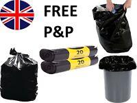 200 BLACK HEAVY DUTY REFUSE BAGS SACKS BIN LINERS RUBBISH BAG UK QUALITY