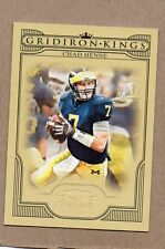 chad henne michigan 2008 threads gridiron kings gold #5 #27/100 card