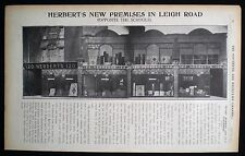 HERBERT'S FURNITURE SHOP STORE LEIGH ROAD WESTCLIFF-ON-SEA ESSEX ARTICLE 1914