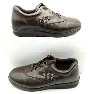 SAS Free Time Walking Brown Leather Shoes Tripad Comfort Women's Size 8.5 W