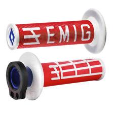 ODI Emig Lock-on Puños 2T/4T Mx Motocross-Rojo/Blanco