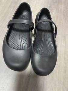 Crocs Womens Alice Work Slip on Shoe in Black Size 5