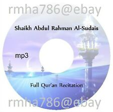 Sheikh Abdul Rahman Al Sudais Full Quran Recitation mp3 CD (no translation)