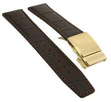 Citizen Eco-Drive Horloge Radio Bracelet de Montre Cuir Bande 20mm Braun AS2053