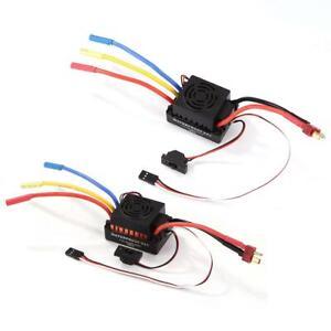 60A Waterproof Brushless Motor Brushless Speed Controller Sensorless ESC #F8s