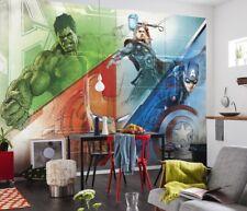 Photo wallpaper wall mural childrens room giant decoration Hulk Thor + Adhesive