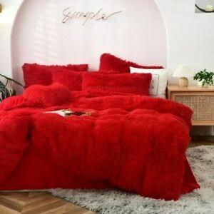 Long Hair Bedding Set Mink Fleece Bed Set Flannel Bed Linen (no Filling) Velvet