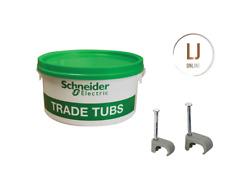 Schneider Electric 1776112 Trade Tub 1-1.5mm 2.5mm Grey Cable Clip Tub 9