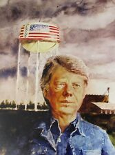Vintage Art James Wyeth Detail Portrait President John F. Kennedy Jimmy Carter