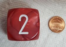 """Koplow's Backgammon Doubling Cube *Burgundy* - 30mm (1 1/8"""") Rich, Red Colors"""