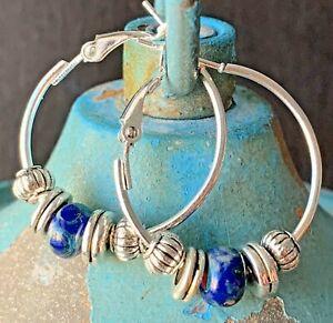 Boho Earrings Stardom Krobo Glass Earrings Recycled Glass Boho Chic Earrings