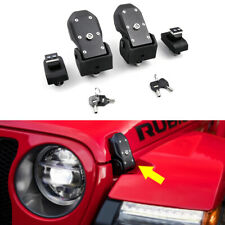 Hood Latches Locking Catch Buckle Kit for 2018-21 Jeep Wrangler Jl Gladiator Jt