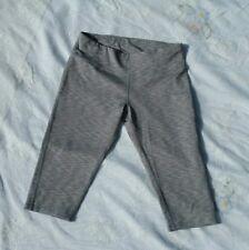 Calvin Klein Women Gray Performance Active Capri Leggings Pants Size S
