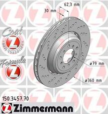 Zimmermann 150.3457.70/150.3458.70 Delantero Discos De Freno Par (Fórmula Z)