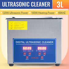 3L Ultrasonic Cleaner Cleaning Equipment Liter Industry Heated W/ Timer Heater