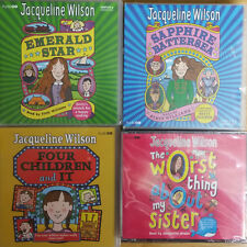 JACQUELINE WILSON - EMERAL STAR - SAPPHIRE BATTERSEA - FOUR CHILDREN AND IT CD'S