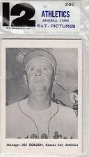 1961 Jay Publishing Kansas City Athletics Baseball Stars - 12 - 5x7 Pictures
