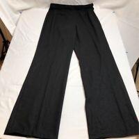 Worthington Women's 10 100% Polyester Flat Front Wide Leg Palazzo Pants Black
