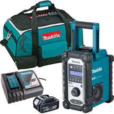 Makita DMR109 10.8v-18v LXT/CXT Job Site Radio + 1 x 5.0Ah BL1850, DC18RC & Bag