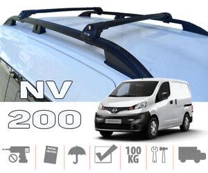 Nissan NV200 Roof Rails and Roof Rack Cross Bars Plus Black Color