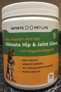 Infinite Pet Life - Peanut Butter Hip and Joint Chews - for Dogs - EXP05/23