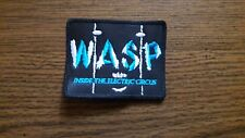 WASP,INSIDE THE ELECTRIC CIRCUS,SEW ON BLUE AND WHITE EMBROIDERED PATCH