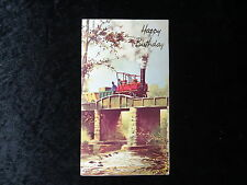 C1970's Birthday Card - Illustrated View of an 1840's Steam Engine.