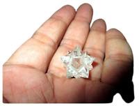 Jet Genuine Crystal Quartz 12 Point Star Merkaba A++ Chakra Radionic Platonic
