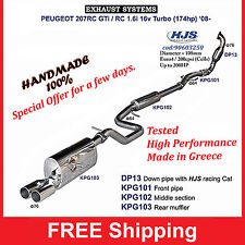 Exhaust System Sport Peugeot 207RC GT/RC 1,6i 16v turbo (174hp) with HJS