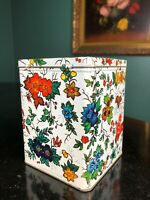 Vintage Daher tea tin made In England hinged square top - very good condition