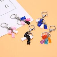 Women Gummy Bear Keychain Acrylic Pendant Charms Colorful Handbag Keyring Gi CJ