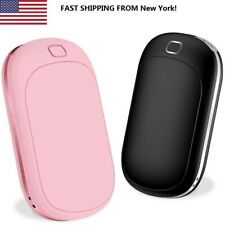 2in1 5200mAh Rechargeable Hand Warmer USB Electric Power Bank Heater Pocket Tele