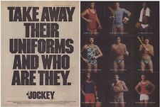 Original 1977 Jockey Underwear w/Pete Rose, Jim Palmer, & More! Vintage Print Ad