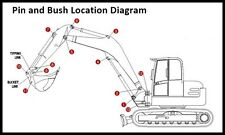 Dipper End Kit Suitable for a Kubota KX36 Digger Pins & Bushes