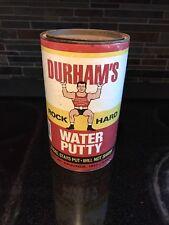 Vintage Durham Rock Hard Water Putty Can Great Graphics Shelf Piece