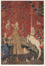 Alte Kunstpostkarte - Tapisserie - La Dame à la Licorne - Le Goût