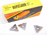 NEW SURPLUS 10PCS. VALENITE  TNMC 32T12P  GRADE: VC7  CARBIDE INSERT