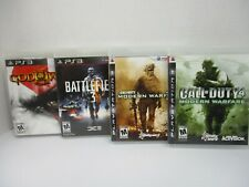 Playstation 3 Games Lot of 4 Call of Duty Modern Warfare 2 and 4 God of War PS3