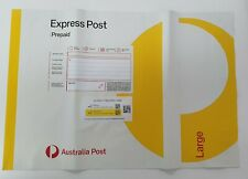 10 X 5KG LARGE EXPRESS POST PREPAID SATCHEL BAGS YELLOW AUSTRALIA POST