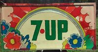 Rare Vintage 7up Soda Sign Psychedelic Peter Max Style 3'X6' Pop Art Lexan
