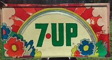 Rare Vintage 7up Soda Sign Psychadelic Peter Max 3'X6' Pop Art Lexan Plastic #2