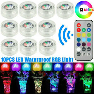 Submersible LED Waterproof Light RGB Lamp Wedding Party Fish Tank Home Decor