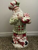 "RARE & HUGE Vintage Christmas Cookie Jar Santa Claus Cooking / Baking 18"" Tall"