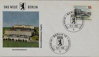 Berlin FDC MiNr 265 (6) Das neue Berlin: Universitätsklinikum Steglitz -Bauwerk-