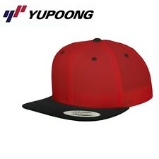 Yupoong 2 Tone Snapback Cap Rot Schwarz