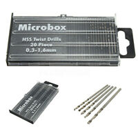 20Pcs Mini winzigen Mikro HSS-Spiralbohrer Set 0,3 bis 1,6 mm Modell   ✤❤ CH